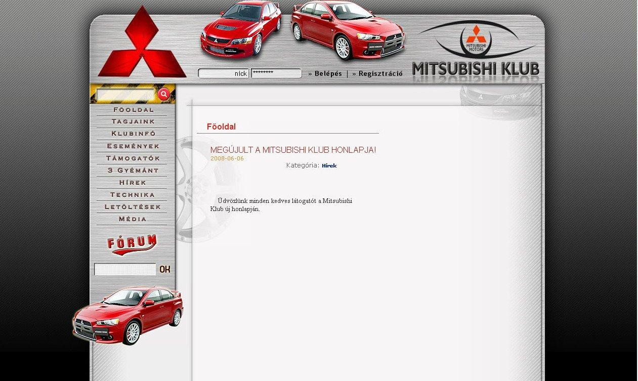 MitsubishiKlub honlap