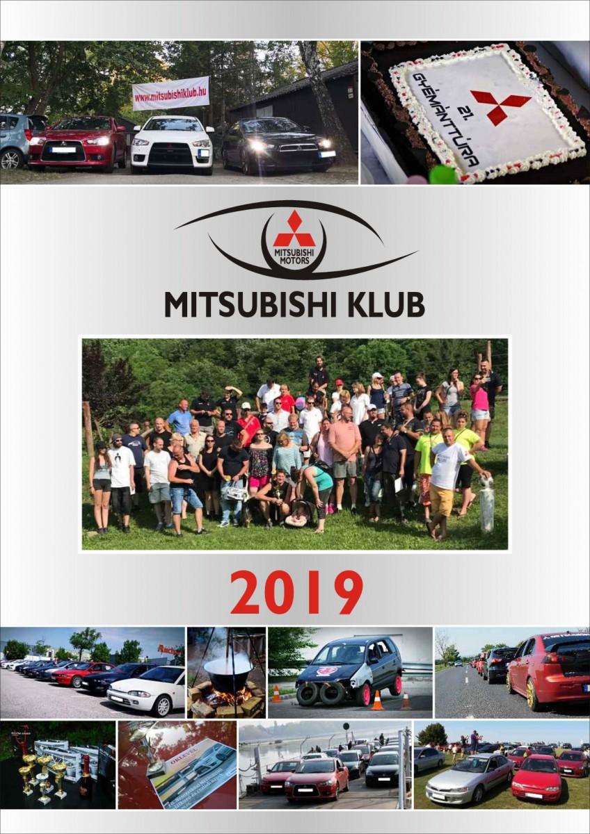 Mitsubishi Klub naptár 2019